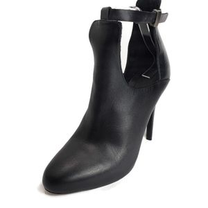 VINCE Sonia Leather High Heel Ankle Strap Booties
